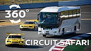 Bus V's 600hp race cars in 360 degrees!