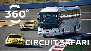 Bus V's 600hp race cars in 360 degrees!