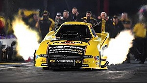Matt Hagan lights the candles and goes to the top in friday night qualifying in Houston
