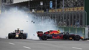 Tabrakan duo Red Bull | GP Azerbaijan 2018