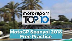 Top 10 Highlights Free Practice | MotoGP Spanyol 2018