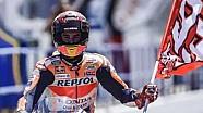 Selebrasi podium Marc Marquez | MotoGP Spanyol