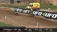 Prado vs Beaton & Larranaga - MX2 Carrera 1 - MXGP de Letonia 2018