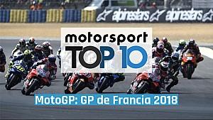 Top 10 del GP de Francia 2018 de MotoGP