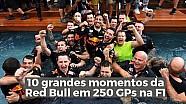 10 momentos marcantes da Red Bull em 250 GPs na F1