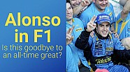 Alonso in F1 - Is this goodbye to an all time great?