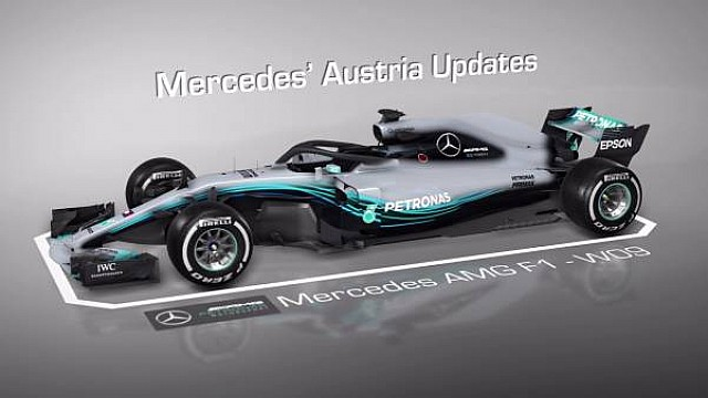 Mercedes'in yeni sidepodu