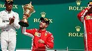 Top 10 finishers - British Grand Prix