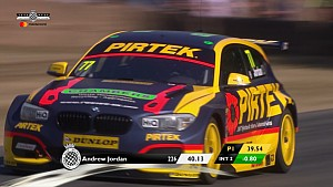 Andrew Jordan races his BTCC BMW against the clock at Goodwood